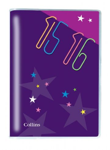 ACADEMIC DIARY 2015/16 HALF YEAR DIARY WEEK TO VIEW PLASTIC COVER by Collins A5